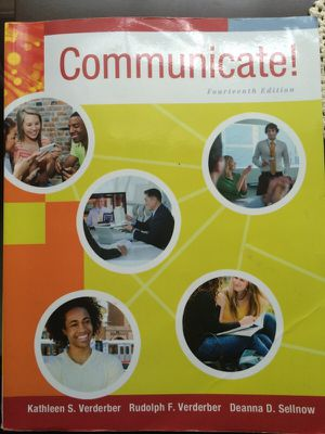"""Communicate!"" Textbook for COMM108 at Montgomery College for Sale in Rockville, MD"