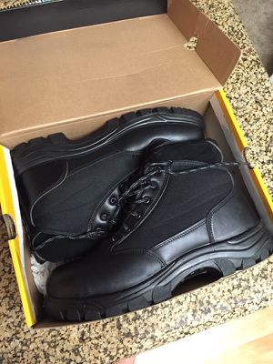 Brand New Men's 12 black steel toe boots for Sale in San Diego, CA