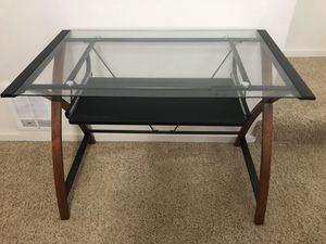Glass computer desk for Sale in Beaverton, OR