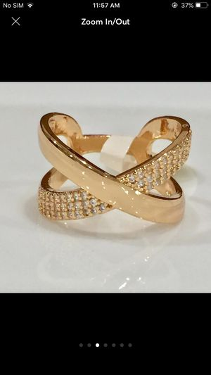18k gold plated wrap crossover ring for Sale in Silver Spring, MD