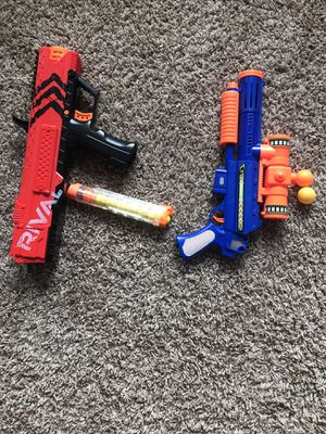 Nerf Rival and Ball blaster gun for Sale in Richmond, TX