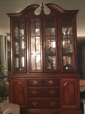 Beautiful cherry china cabinet for Sale in St. Louis, MO