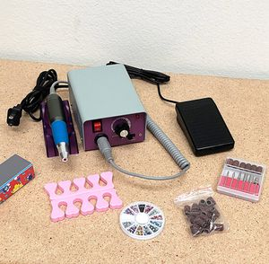 (NEW) $35 Salon Pro Manicure Tool Pedicure Electric Drill File Nail Art Pen Machine Kit for Sale in South El Monte, CA