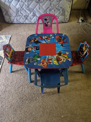 Kids table with 4 chairs for Sale in Presto, PA