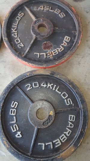 Olympic barbell weight pairs for Sale in Corona, CA