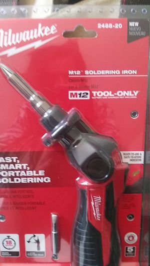 Milwaukee m12 soldering iron for Sale in Tumwater, WA