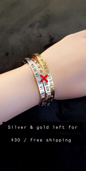 Silver and gold bracelets for Sale in Hickory Hills, IL