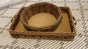 Set of Pyrex rattan/wicker baking dish holder for Sale in South El Monte, CA
