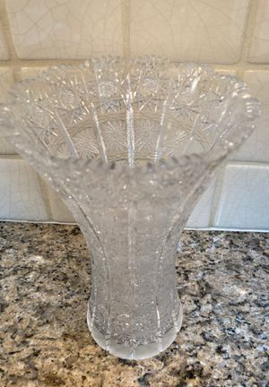 Bohemian Queen Lace hand cut crystal vase for Sale in Seattle, WA