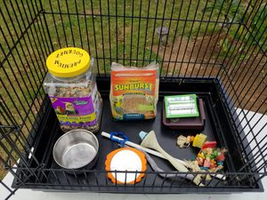Bird cage loaded with goodies for Sale in Gresham, OR