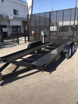 Brand new 8.5x16 car hauler low boy for Sale in Rancho Cucamonga, CA