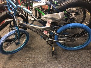 "Huffy 20"" radium Boys Bike BMX silver blue chrome for Sale in Forest Park, GA"