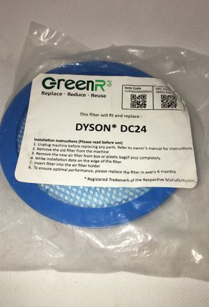 GreenR3 1 Pack PRE Filter #919777-02 Air Filter fit Dyson DC24 Vacuum Cleaners Animal Blueprint MultiFloor for Sale in Huntington Park, CA