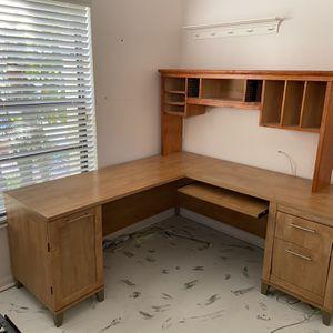 Computer Desk And Top Shelf, Optional Chair for Sale in Boynton Beach, FL
