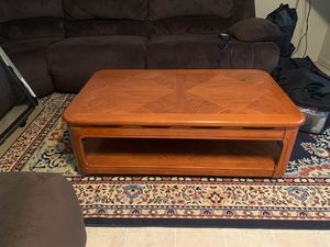 Coffee table and two end tables matching set for Sale in Stockton, CA
