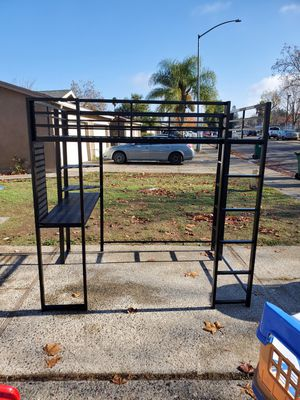 DHP full size loft bed with desk and ladders. In great condition for Sale in Stockton, CA