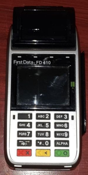 NEW FIRST DATA 410 WITH CHIP READER AND NEW EPSON RECEIPT PRINTERS for Sale in Boca Raton, FL
