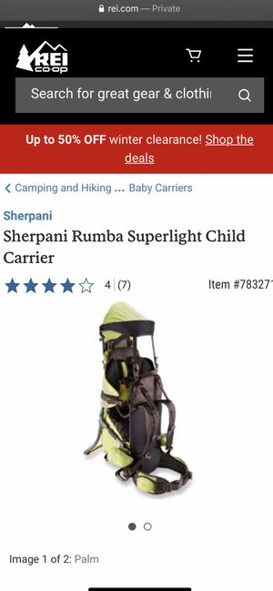 Sherpani hiking baby carrier for Sale in Lincoln, CA