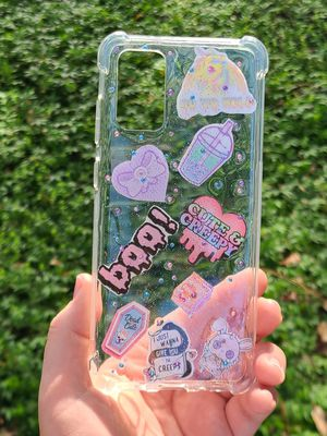 Handmade clear with kawaii stickers phone case for samsung Galaxy S20 plus for Sale in Winter Springs, FL
