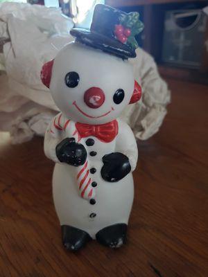 "Antique porcelain snowman 5"" tall for Sale in Redlands, CA"