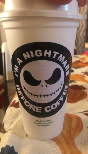 Nightmare before Christmas Starbucks reusable hot cup for Sale in Patterson, CA