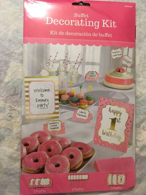 1st birthday decorating buffet kit for Sale in North Lauderdale, FL