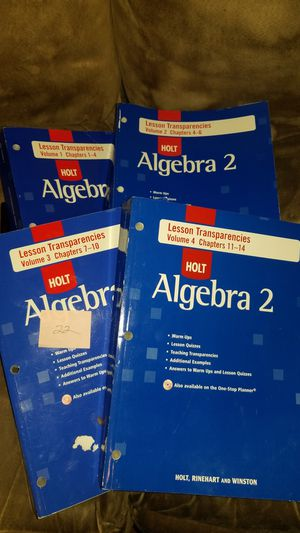 Holt McDougal Larson Algebra 2: Chapter Transparency Package, Volumes 1-4 for Sale in Harrah, OK