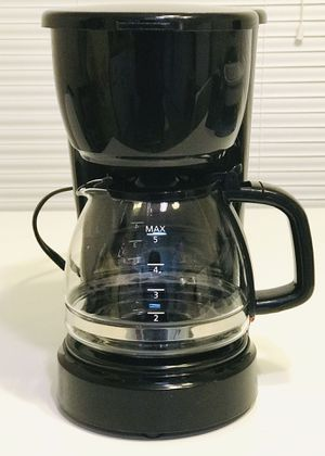 5 Cup Black Coffee Maker with Removable Filter Basket for Sale in Atlanta, GA