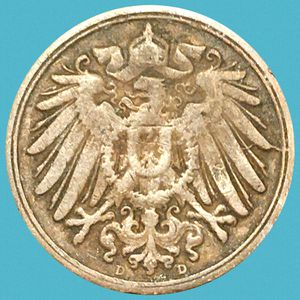Antique German Collectible Coin • 19th Century • AUTHENTIC • OVER 120 YEARS OLD • 1899 Germany - Empire 1 Pfennig for Sale in Yucca Valley, CA