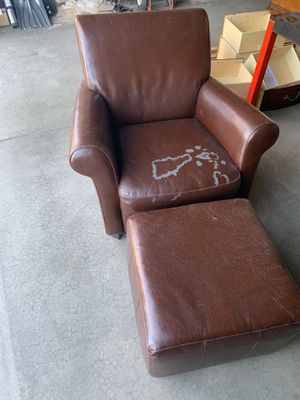 Leather chair and foot rest for Sale in Arvada, CO