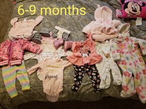 Baby girl clothes shoes socks size 6-9 months for Sale in Las Vegas, NV