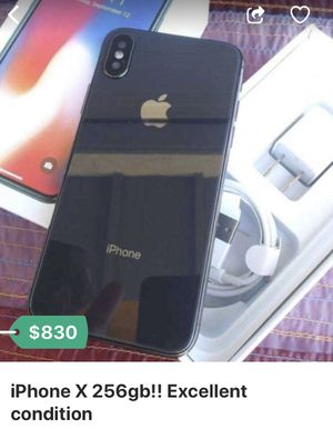 iPhone X unlock 256g 9/10 condition for Sale in Herndon, VA