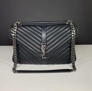 Saint Laurent YSL College Large Shoulder Bag Matelasse Black Leather for Sale in Washington, DC