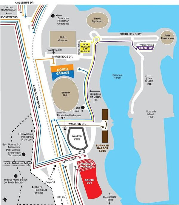 Chicago Bears vs Chargers, Parking Pass, SOUTH LOT (RED) TAILGATE!