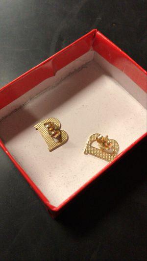Gold earings real gold for Sale in San Bernardino, CA
