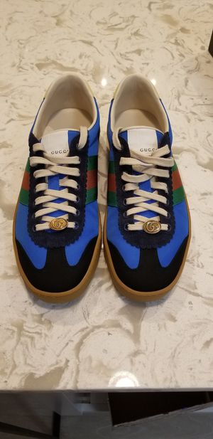 """Gucci G74 Nylon Sneaker """"Bright Blue"""" Gucci Size 8 Fits Men size 8.5 Firm @ $400 for Sale in Forest Heights, MD"""