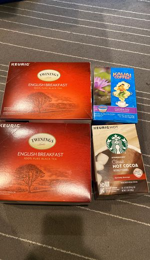 Keurig pods - mix of tea, coffee, and hot chocolate for Sale in Seattle, WA