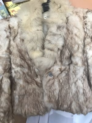 Dyed Rabbit Fur beige Small size Coat. Used like New for Sale for sale  Queens, NY