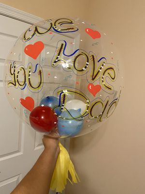 Bubble balloon personalized for Father's Day or birthday. 🎉🎊🎁💐 for Sale in Port St. Lucie, FL