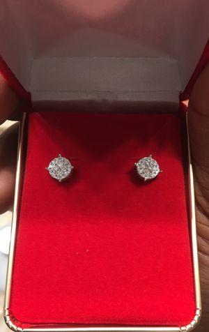 men 14k gold diamond earrings for Sale in Cedar Hill, TX