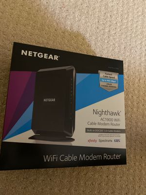 Nighthawk AC1900 Cable Modem Router for Sale in San Jose, CA