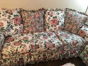 Couch and ottoman for Sale in Beaverton, OR