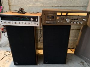 2 vintage speakers one receiver +stereo tape deck everything works perfect and good condition all set $200 for Sale in Los Angeles, CA