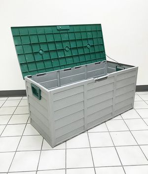 """(New in box) $45 each Plastic Storage Box 70 Gallon Outdoor Durable Plastic Shed Waterproof 44""""x19""""x21"""" for Sale in Whittier, CA"""