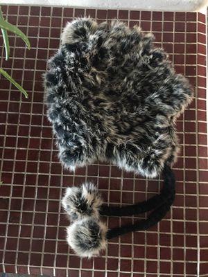 Used, Real Rabbit Fur Luxurious Ladies Beanie Tan Black for Sale for sale  Scottsdale, AZ