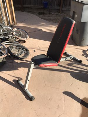 Adjustable Weight Bench Weider for Sale in Fresno, CA
