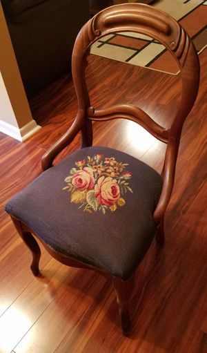 Antique Carved Balloon Back Parlor Chair for Sale in Seffner, FL