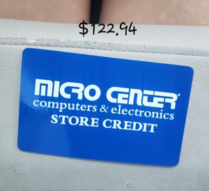 Microcenter Merchandise Card for Sale in Lawrenceville, GA