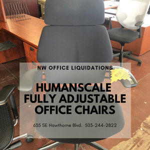 Humanscale Ergonomic, Fully Adjustable Office Chairs starting at $329 for Sale in Portland, OR