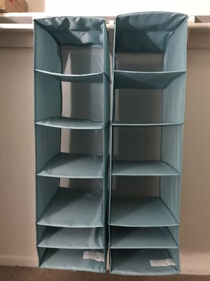 Soft Fabric Over Closet Rod Hanging Storage Organizer with 6 Shelves for Child/Kids Room for Sale in Eagleville, PA